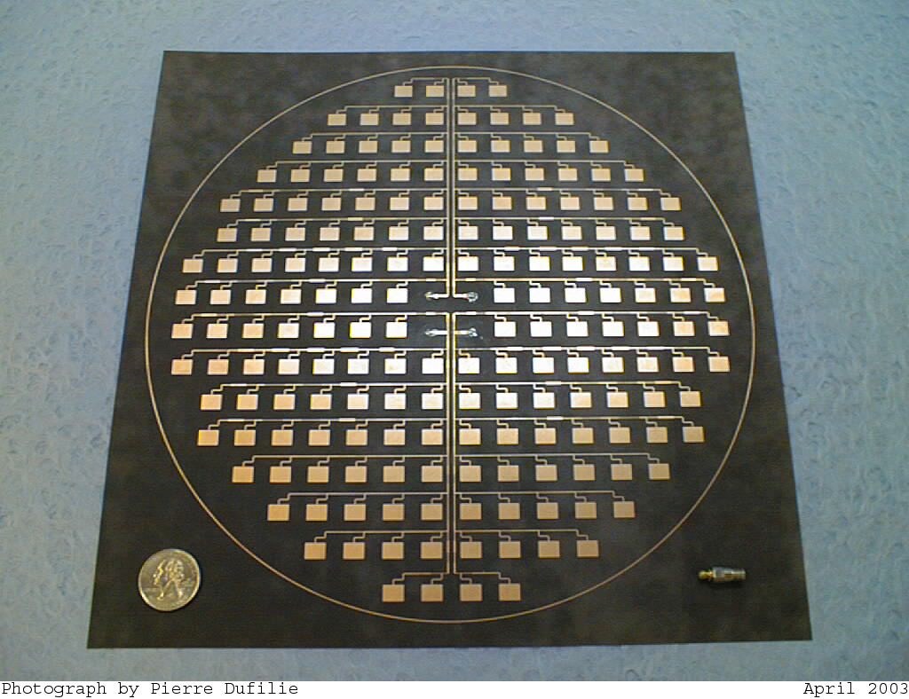 12 Ghz Circular Microstrip Array